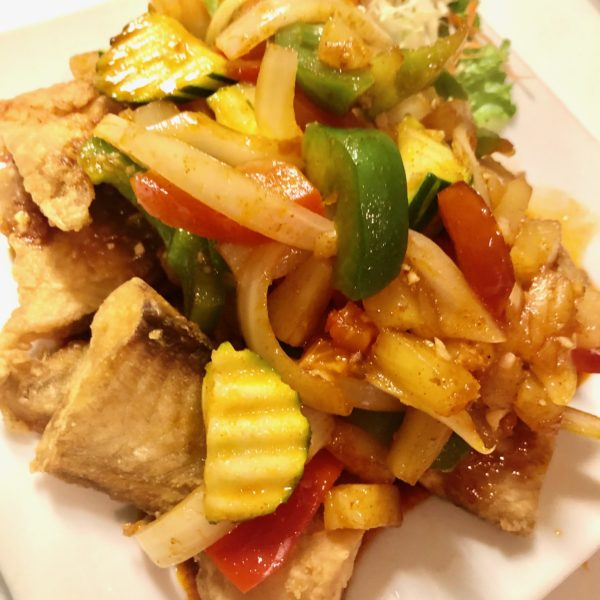 CRISPY FRIED FISH WITH SWEET AND SOUR SAUCE